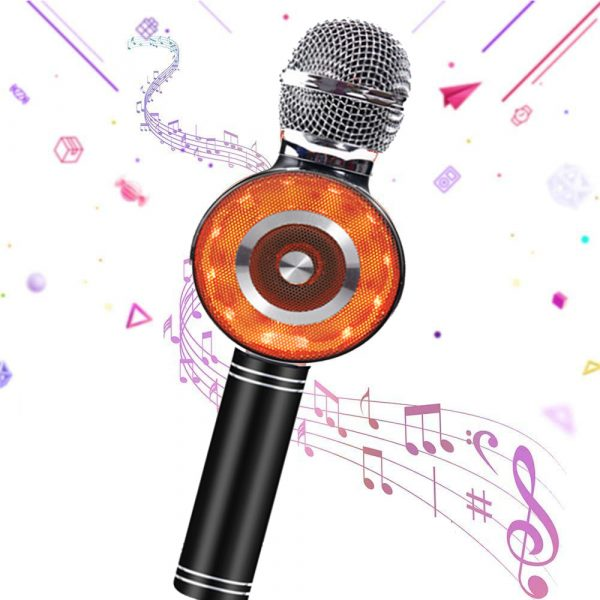 High Configuration Wireless Bluetooth Microphone with Large Speaker and LED Lights_1
