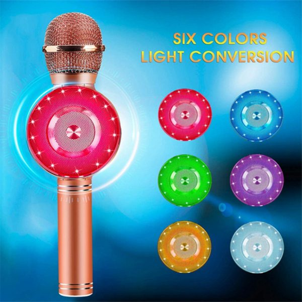 High Configuration Wireless Bluetooth Microphone with Large Speaker and LED Lights_5