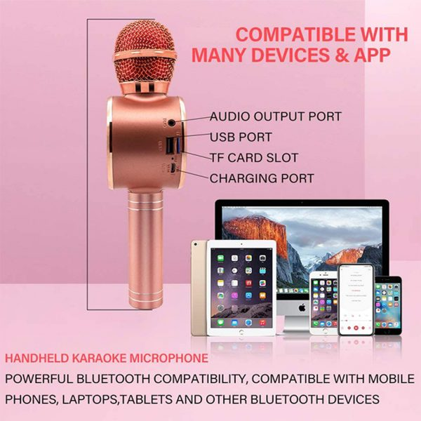 High Configuration Wireless Bluetooth Microphone with Large Speaker and LED Lights_8