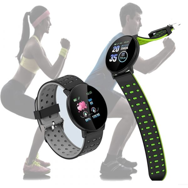 Bluetooth Smartwatch Blood Pressure Monitor Unisex Watch and Fitness Tracker for Android iOS_10