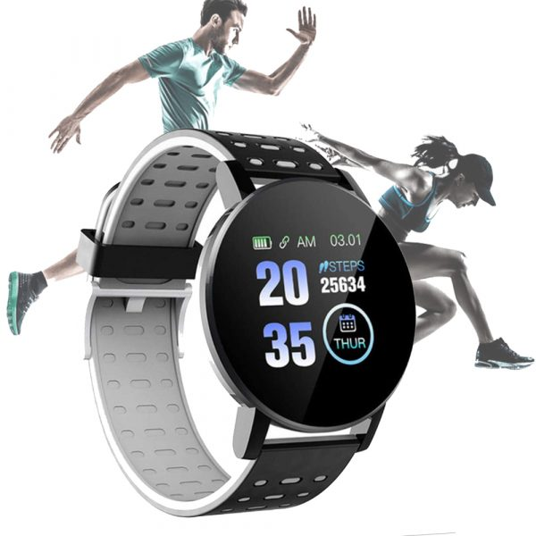 Bluetooth Smartwatch Blood Pressure Monitor Unisex Watch and Fitness Tracker for Android iOS_11