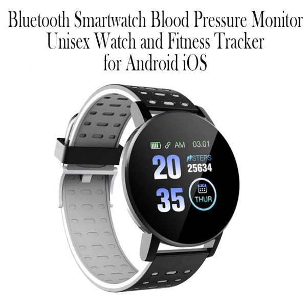 Bluetooth Smartwatch Blood Pressure Monitor Unisex Watch and Fitness Tracker for Android iOS_12