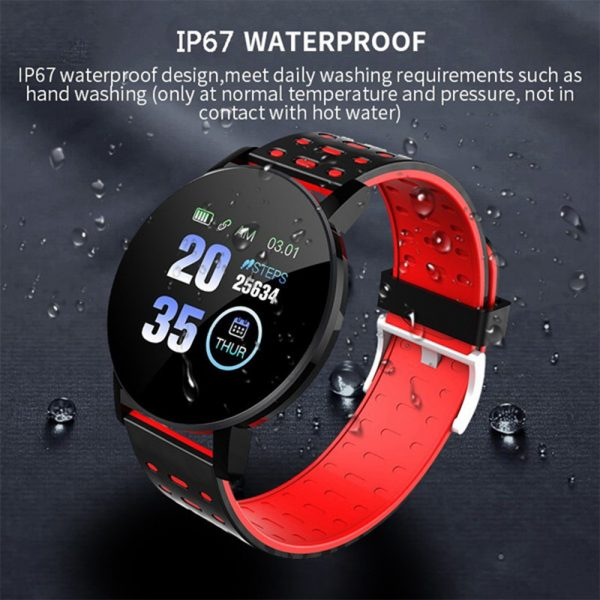 Bluetooth Smartwatch Blood Pressure Monitor Unisex Watch and Fitness Tracker for Android iOS_1