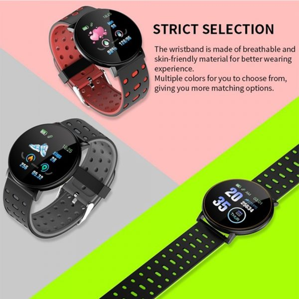 Bluetooth Smartwatch Blood Pressure Monitor Unisex Watch and Fitness Tracker for Android iOS_4