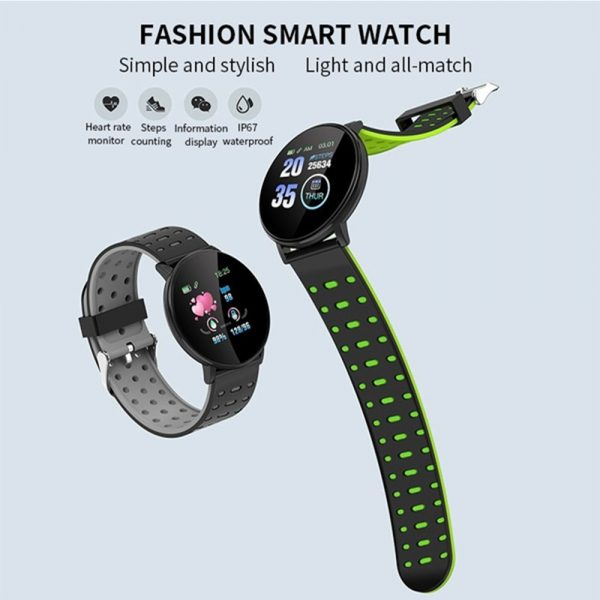 Bluetooth Smartwatch Blood Pressure Monitor Unisex Watch and Fitness Tracker for Android iOS_5