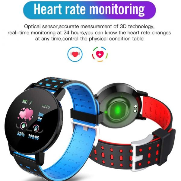 Bluetooth Smartwatch Blood Pressure Monitor Unisex Watch and Fitness Tracker for Android iOS_7