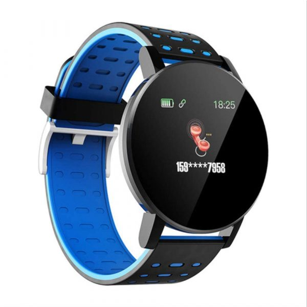 Bluetooth Smartwatch Blood Pressure Monitor Unisex Watch and Fitness Tracker for Android iOS_13