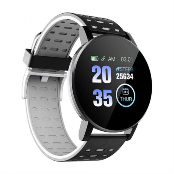 Bluetooth Smartwatch Blood Pressure Monitor Unisex Watch and Fitness Tracker for Android iOS_15