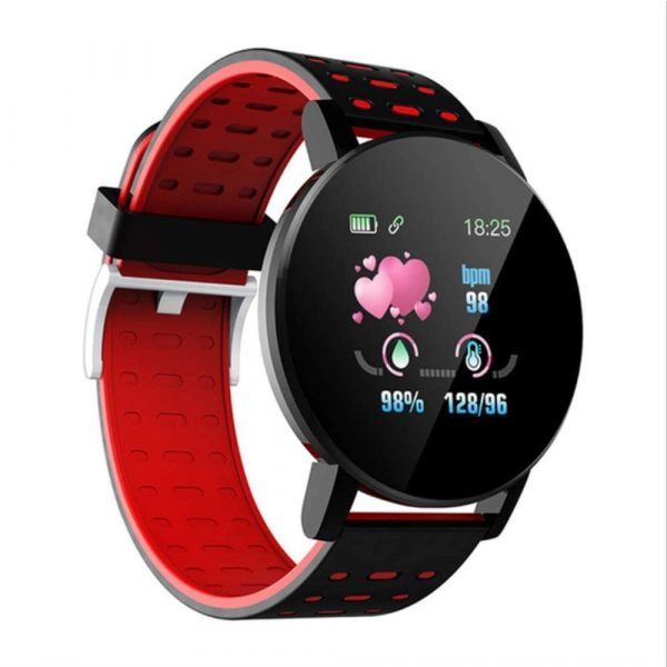 Bluetooth Smartwatch Blood Pressure Monitor Unisex Watch and Fitness Tracker for Android iOS_14