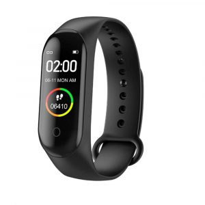 Waterproof Bluetooth 4.0 Heart Rate and Blood Pressure Fitness Tracker Smartwatch