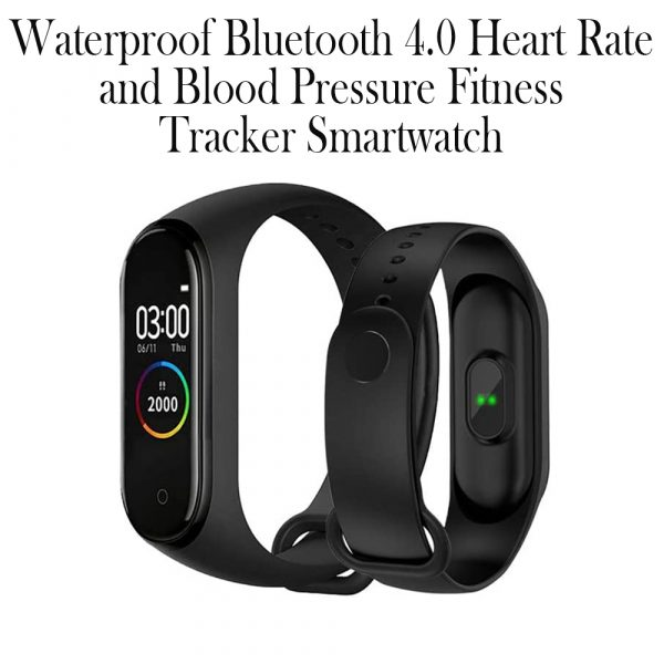 Waterproof Bluetooth 4.0 Heart Rate and Blood Pressure Fitness Tracker Smartwatch_12