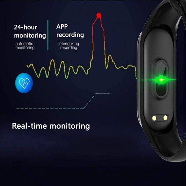 Waterproof Bluetooth 4.0 Heart Rate and Blood Pressure Fitness Tracker Smartwatch_2