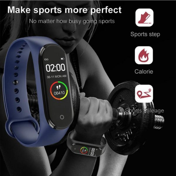 Waterproof Bluetooth 4.0 Heart Rate and Blood Pressure Fitness Tracker Smartwatch_3