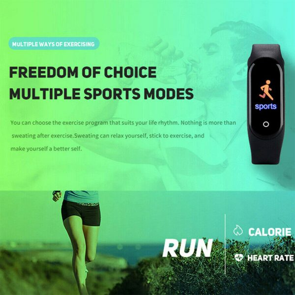 Waterproof Bluetooth 4.0 Heart Rate and Blood Pressure Fitness Tracker Smartwatch_5