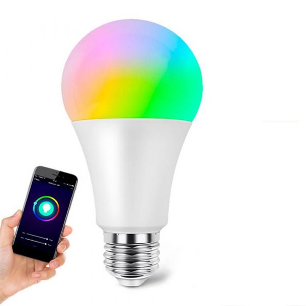 15W Wi-Fi Smart Bulb E27 LED RGB Bulb Works with Alexa / Google Home 85-265V RGB + White -Dimmable Timer Function Magic Bulb_0