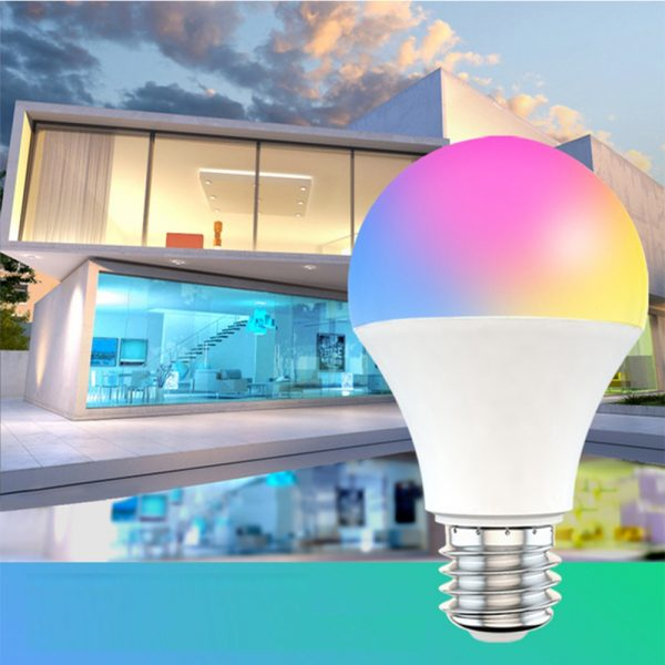15W Wi-Fi Smart Bulb E27 LED RGB Bulb Works with Alexa / Google Home 85-265V RGB + White -Dimmable Timer Function Magic Bulb_2