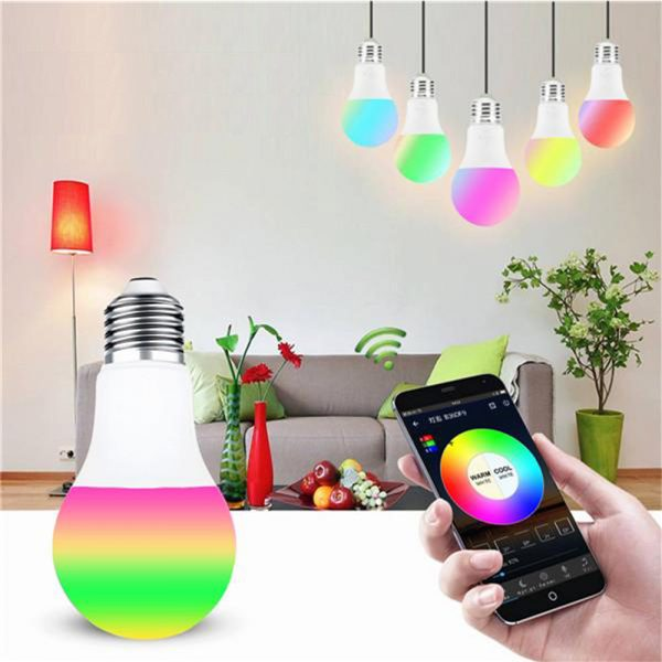 15W Wi-Fi Smart Bulb E27 LED RGB Bulb Works with Alexa / Google Home 85-265V RGB + White -Dimmable Timer Function Magic Bulb_3