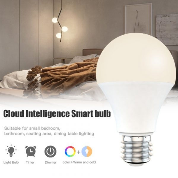 15W Wi-Fi Smart Bulb E27 LED RGB Bulb Works with Alexa / Google Home 85-265V RGB + White -Dimmable Timer Function Magic Bulb_8