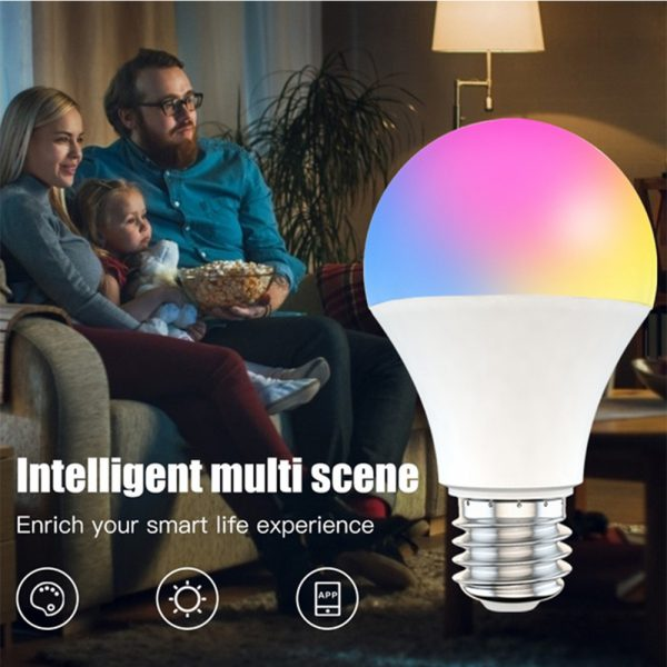 15W Wi-Fi Smart Bulb E27 LED RGB Bulb Works with Alexa / Google Home 85-265V RGB + White -Dimmable Timer Function Magic Bulb_9