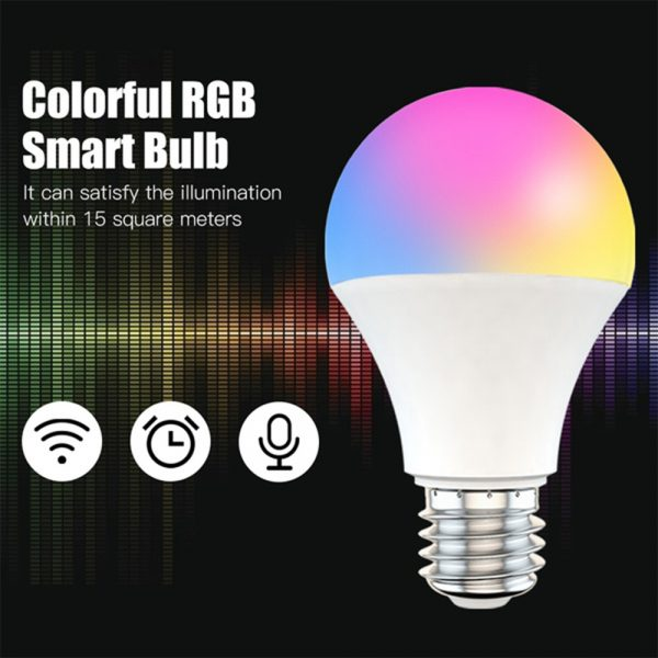 15W Wi-Fi Smart Bulb E27 LED RGB Bulb Works with Alexa / Google Home 85-265V RGB + White -Dimmable Timer Function Magic Bulb_4