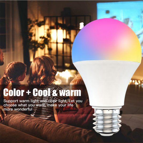 15W Wi-Fi Smart Bulb E27 LED RGB Bulb Works with Alexa / Google Home 85-265V RGB + White -Dimmable Timer Function Magic Bulb_5