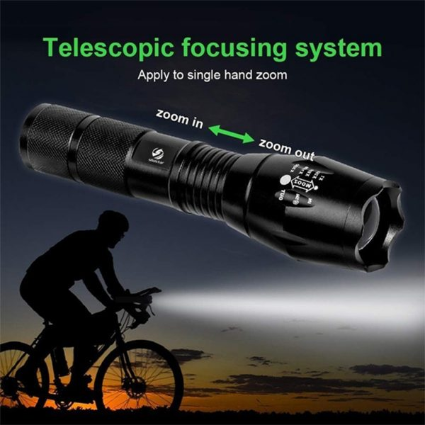Waterproof Zoomable LED Ultra Bright Torch T6 Camping Light 5 Switch Fashion Bicycle Flash Light_6