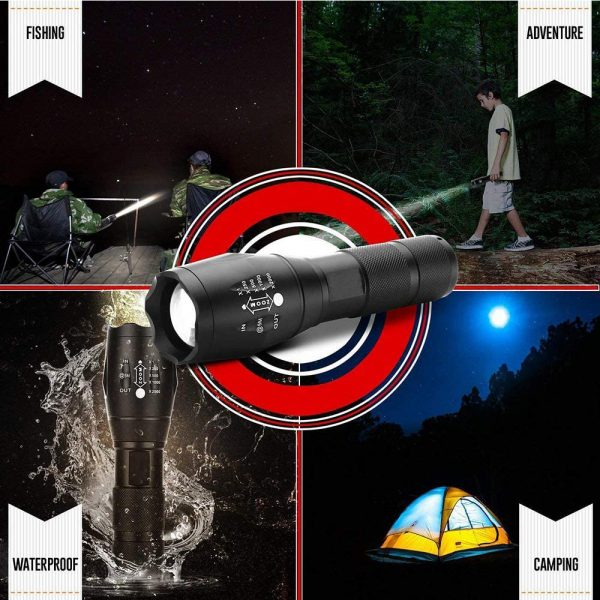 Waterproof Zoomable LED Ultra Bright Torch T6 Camping Light 5 Switch Fashion Bicycle Flash Light_9