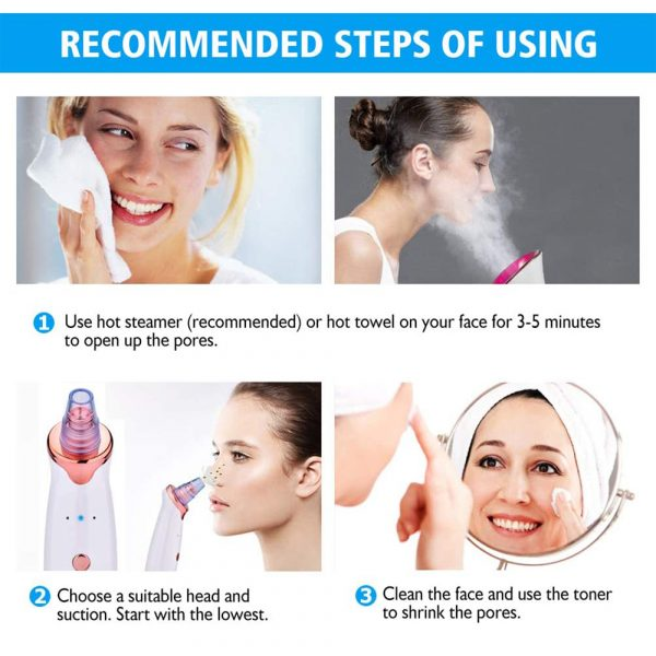 Acne Pimple Blackhead Remover Deep Cleaner for Face T Zone and Nose Vacuum Suction Machine Facial Beauty_18