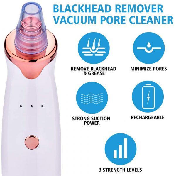 Acne Pimple Blackhead Remover Deep Cleaner for Face T Zone and Nose Vacuum Suction Machine Facial Beauty_11