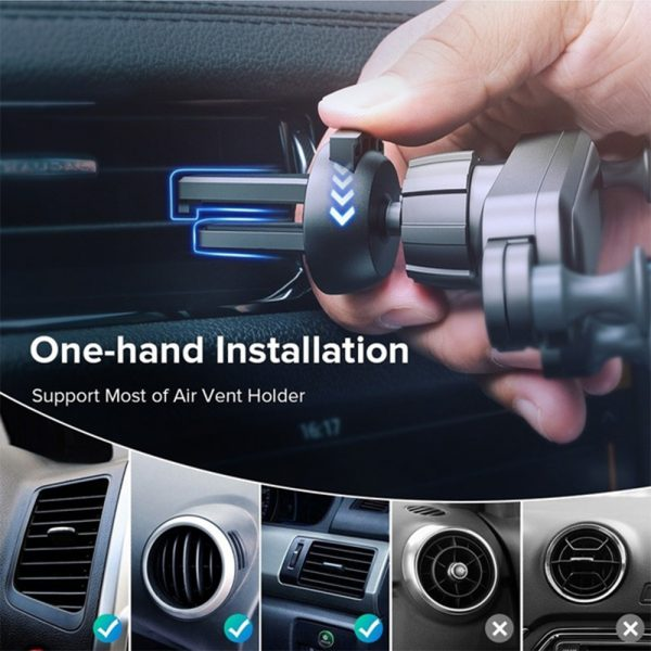 Non-Magnetic Gravity Mobile Phone Holder in Car Air Vent for 6.5 inches phones_2
