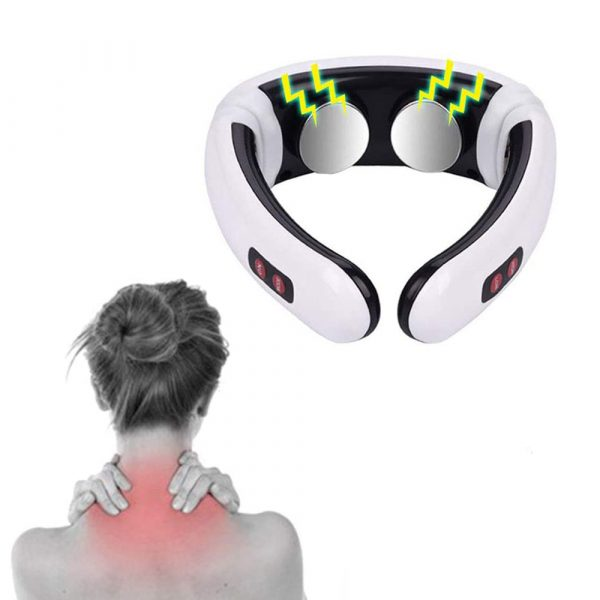 Infrared Heating USB Rechargeable Electric Neck Massager & Pulse Back with 6 Massage Modes for Pain Relief Health Care Relaxation Machine_0