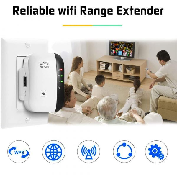 Wireless Wi-Fi Repeater and Signal Amplifier Extender Router 300Mbps Wi-Fi Booster 2.4G Wi-Fi Range Ultra boost Access Point_3