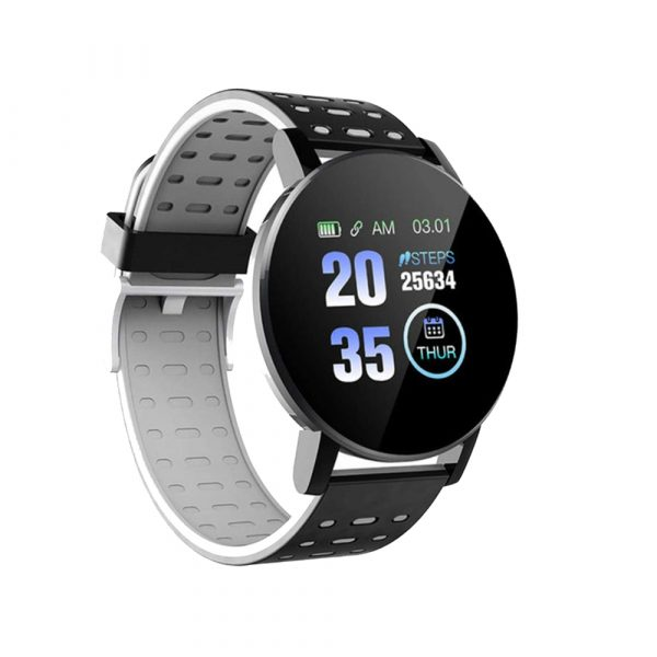 Bluetooth Smartwatch Blood Pressure Monitor Unisex Watch and Fitness Tracker for Android iOS_0
