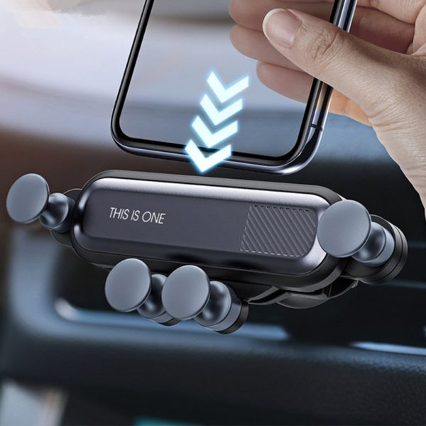 Non-Magnetic Gravity Mobile Phone Holder in Car Air Vent for 6.5 inches phones_8