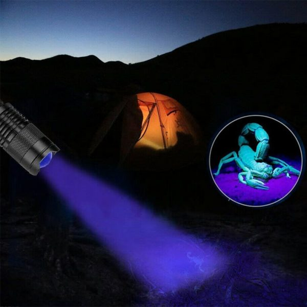 Mini LED UV Flashlight Ultraviolet Flashlight with Zoom Function UV Black Light Fake Bill and Pet Urine Stain Detector_5