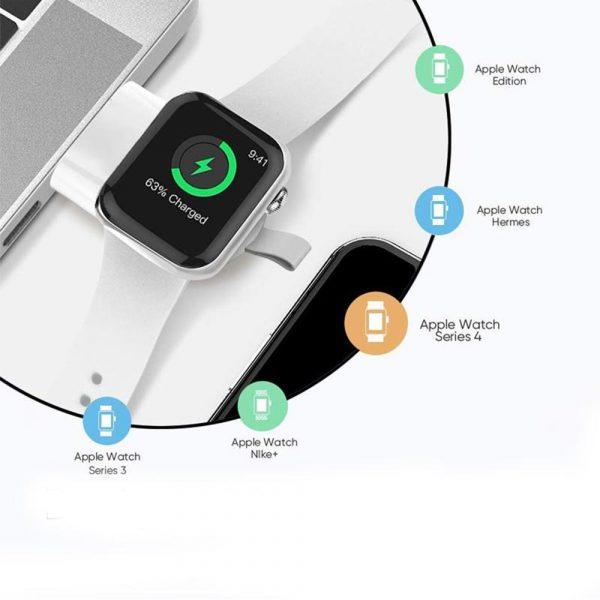 Portable Fast Charging Wireless Charger for iWatch 6 SE 5 4 USB Charging Dock Station for Apple Watch Series 5 4 3 2 1_5