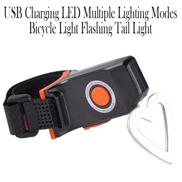 USB Charging LED Multiple Lighting Modes Bicycle Light Flashing Tail Light Rear Warning Bicycle Lights_12
