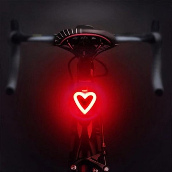 USB Charging LED Multiple Lighting Modes Bicycle Light Flashing Tail Light Rear Warning Bicycle Lights_0