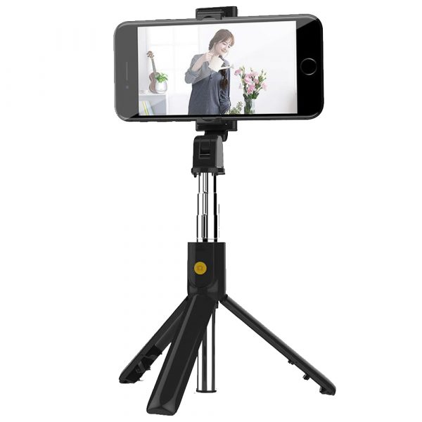 3 In 1 Wireless Bluetooth Selfie Stick Foldable Mini Tripod Expandable Monopod with Remote Control For iPhone iOS Android_0