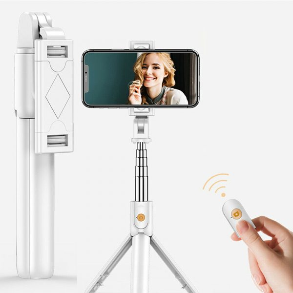 3 In 1 Wireless Bluetooth Selfie Stick Foldable Mini Tripod Expandable Monopod with Remote Control For iPhone iOS Android_2
