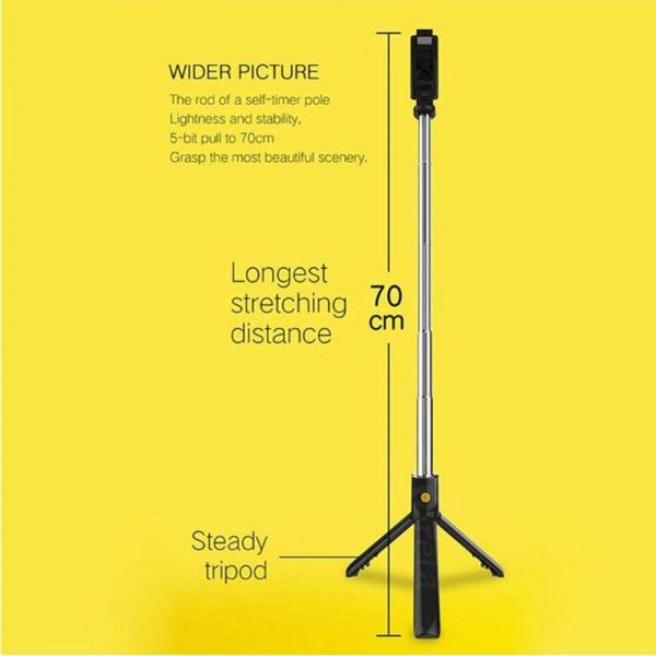 3 In 1 Wireless Bluetooth Selfie Stick Foldable Mini Tripod Expandable Monopod with Remote Control For iPhone iOS Android_12