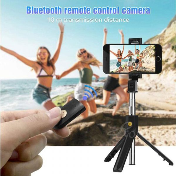 3 In 1 Wireless Bluetooth Selfie Stick Foldable Mini Tripod Expandable Monopod with Remote Control For iPhone iOS Android_4