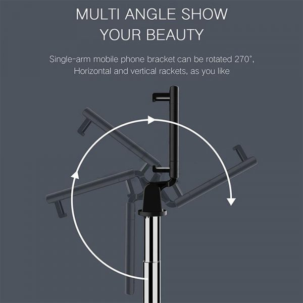 3 In 1 Wireless Bluetooth Selfie Stick Foldable Mini Tripod Expandable Monopod with Remote Control For iPhone iOS Android_5