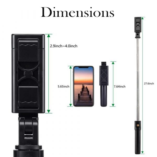 3 In 1 Wireless Bluetooth Selfie Stick Foldable Mini Tripod Expandable Monopod with Remote Control For iPhone iOS Android_6