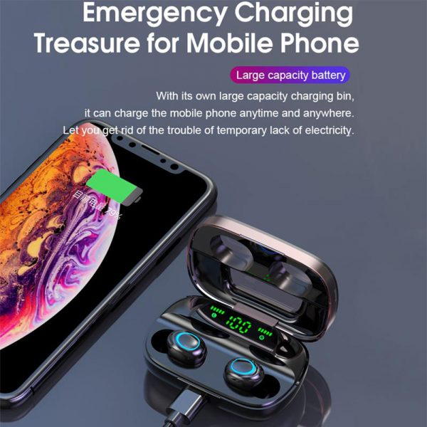 Wireless Waterproof Bluetooth 5.0 Earphones with 3500mAh Charging Box and Mic Sports Earbuds Headsets_11