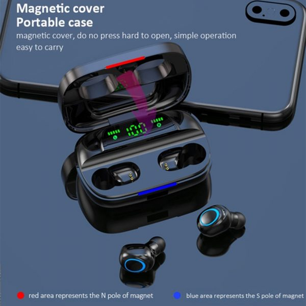 Wireless Waterproof Bluetooth 5.0 Earphones with 3500mAh Charging Box and Mic Sports Earbuds Headsets_13