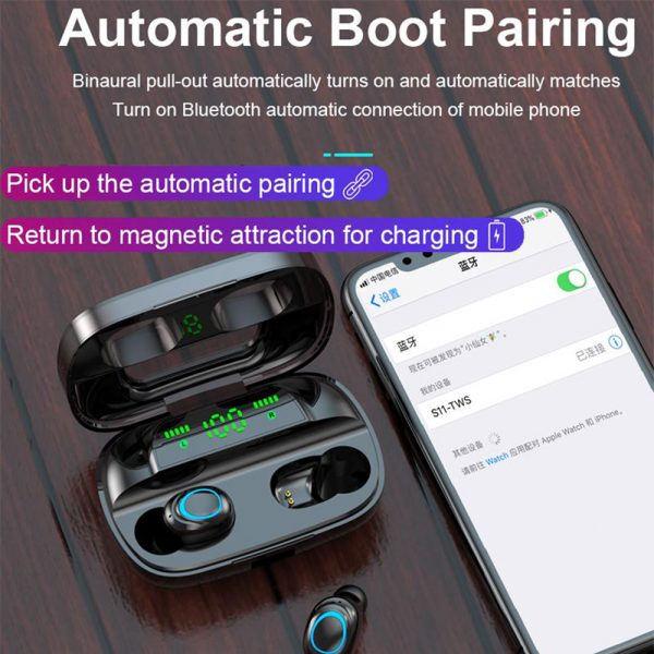 Wireless Waterproof Bluetooth 5.0 Earphones with 3500mAh Charging Box and Mic Sports Earbuds Headsets_2