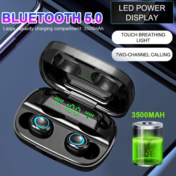 Wireless Waterproof Bluetooth 5.0 Earphones with 3500mAh Charging Box and Mic Sports Earbuds Headsets_5
