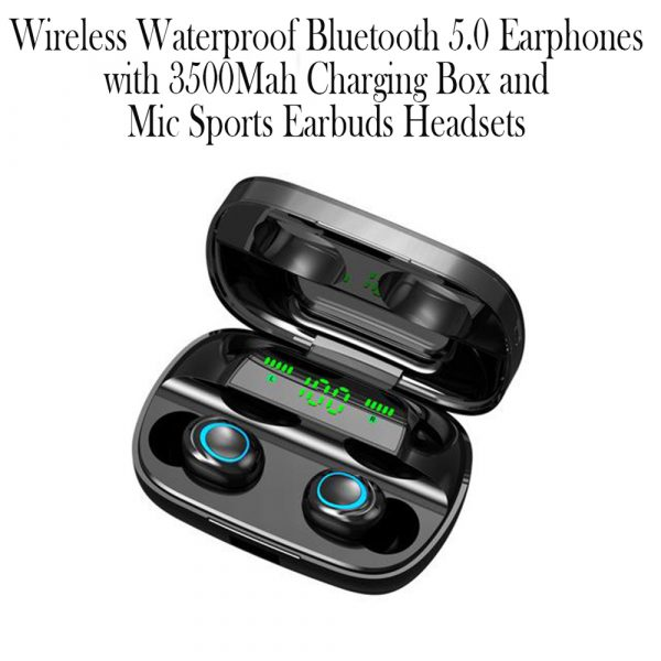 Wireless Waterproof Bluetooth 5.0 Earphones with 3500mAh Charging Box and Mic Sports Earbuds Headsets_8