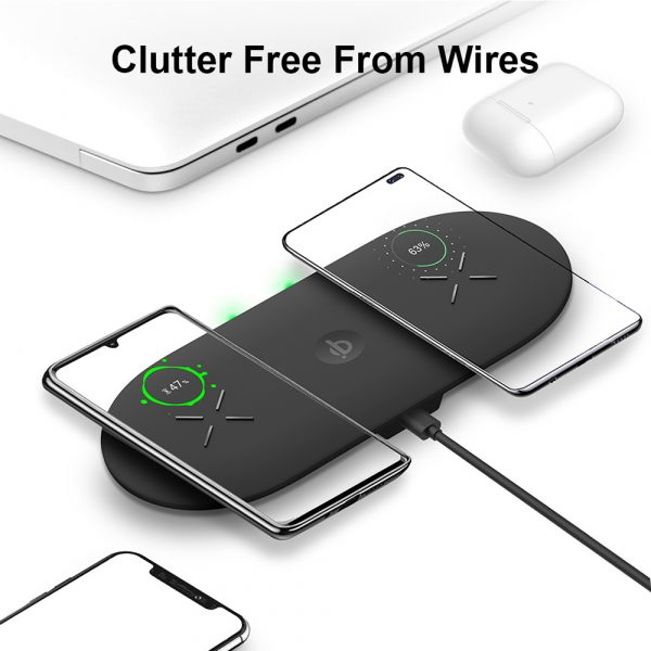 18W 3-in-1 Fast Charging Wireless QI Charger Pad for Apple, Samsung, Apple Watch and AirPods_7